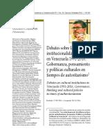 Articulo Carlos Enrique Guzman Cardenas Gobernanza Cultural en Venezuela 1991-2016
