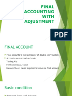 Final Accounting with adjustment