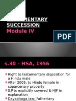 Module IV- Testamentary Succession