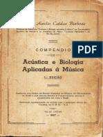 Marco Aurélio Caldas Barbosa - Compêndio de Acústica e Biologia Aplicadas à Música
