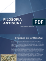 Filosofia Antigua. Los Presocraticos