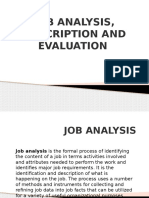 Job Analysis,Descrptn,Evaluatn Ppt(Comp)