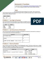7. C Programming Functions Homework