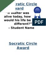 socratic circle student award