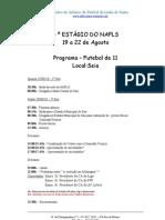Programa para o 4º Estágio do NAFLS - Fut 11 e Futsal-não protegido