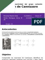 Práctica 4_ Reactividad Del Grupo Carbonilo Reacción de Canizarro