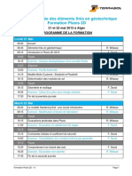 Programme de La Formation PLAXIS