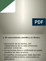 Caracteristicas de La Ciencia Factica