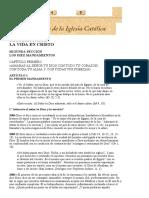 Catecismo de La Iglesia Católica, Tercera Parte, Segunda Sección, Capítulo Primero, Artículo 1, 2084-2141