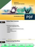 Global Mesh Controls Ansys Workbench 16.