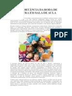 A IMPORTÂNCIA DA RODA DE LEITURA EM SALA DE AULA.doc