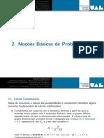 Capítulo 2 - Noções básicas de probabilidade - Est I 2016-17-2