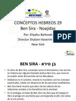 Conceptos Hebreos 29 Ben Sira Noajidas