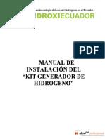 Manual Instalación GENERADOR DE HIDROGENO
