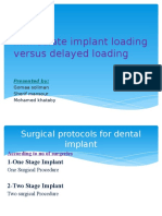 Immediate Implant Loading Versus Delayed Loading (1)