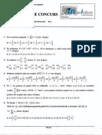 Mate.info.Ro.3026 Algebra Si Elemente de Analiza Matematica - Subiecte UPB 2014