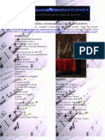 Repertorio Musica Instrumental y Show de Saxofon Junio de 2016