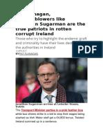 Pat Flanagan, Whistleblowers Like Jonathan Sugarman Are the True Patriots in Rotten Corrupt Ireland