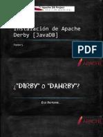 Instalación de Apache Derby [JavaDB]