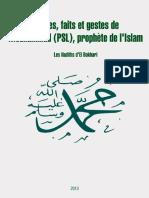 Paroles, faits et gestes de Mouhammad (psl), prophète de l'Islam