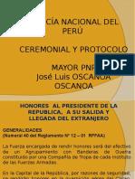 Ceremonial y Protocolo - 12va. Semana