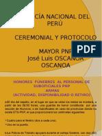 Ceremonial y Protocolo - 16va. Semana