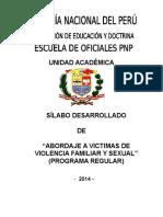 Sillabus Abordaje a Victima de Violencia Familiar y Sexual TEMATICO 2015 I