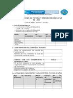 Reporte de Acciones de Tutoria y Orientación Educativa de La Ie