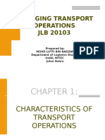 Chap 1. Characteristics of Transport Operations (1)