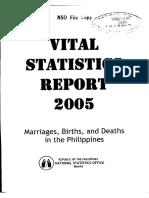 2005 Vital Statistics Report