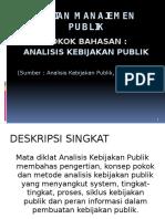 Analisis Kebijakan Publik LAN