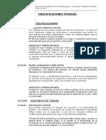 ESPECIFICACIONES TECNICAS DE UN RESERVORIO APOYADO DEL SISTEMA DE AGUA POTABLE