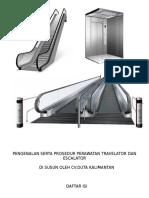 Pengenalan Serta Prosedur Perawatan Travelator Dan Escalator - Ari