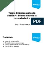 Sesión 4- Primera Ley de La Termodinámica