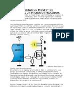 Como Conectar Un Mosfet de Potencia a Un Microcontrolador