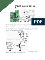 Como Controlar Un Relé Con Un Transistor