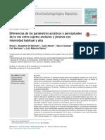 Diferencias Entre Parametros Acusticos y Perceptuales