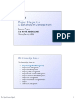 Project Management - Integration-stakeholder Management