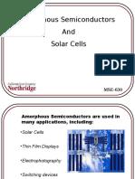Amorphous SC and Solar Cells