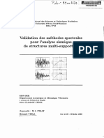 Mode spectrale et analyse sismique
