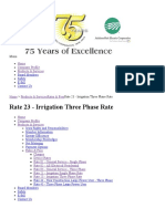 Rate 23 - Irrigation - Three Phase Rate