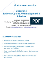 Chapter 4 - Business Cycle, Unemployment Inflation DR TANG