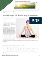 Kundalini Yoga_ the Healthy, Happy, Holy Breath _ Kundalini