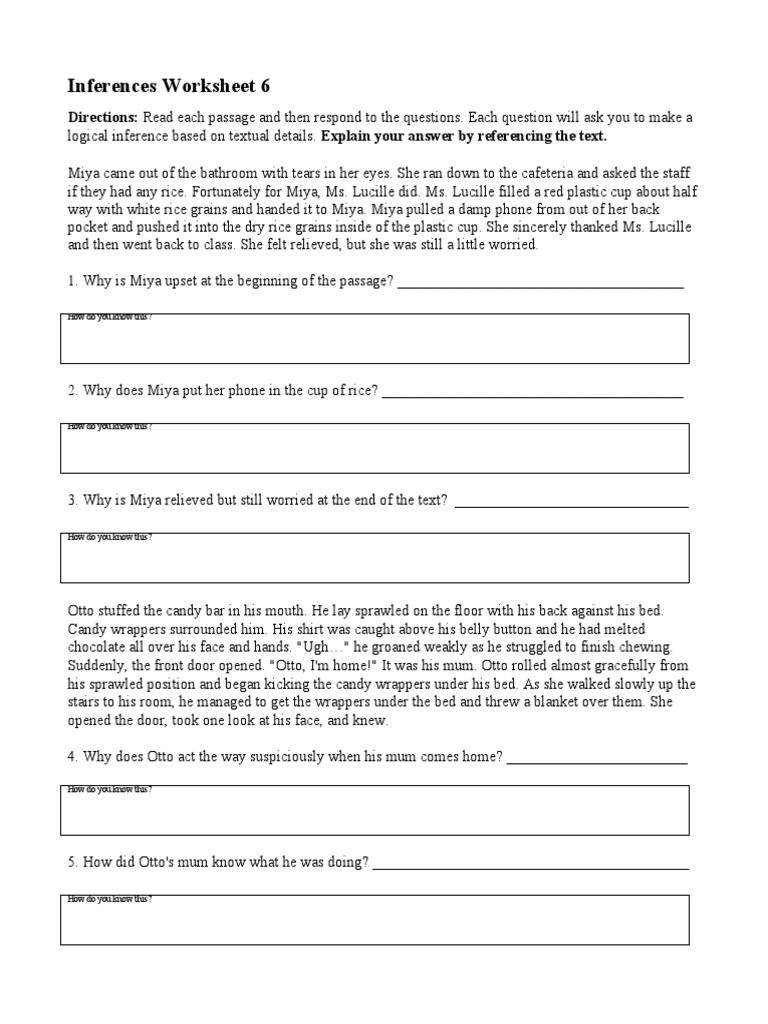 worksheet Inferences Worksheet 2 inferences worksheet 6 sports leisure