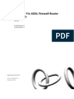 Wireless 11n ADSL Firewall Router