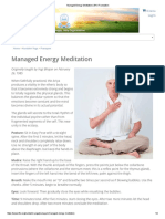 Managed Energy Meditation _Kundalini