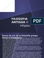 Filosofia Antigua III Platon