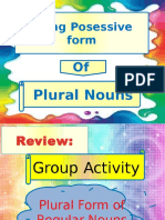 Using the Possessive Form of Plural Nouns