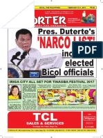 Bikol Reporter February 5 - 11, 2017 Issue