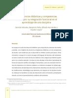 0Competencias Didácticas y Competencias de Estudio INTEGRACIÓN FUNCIONAL